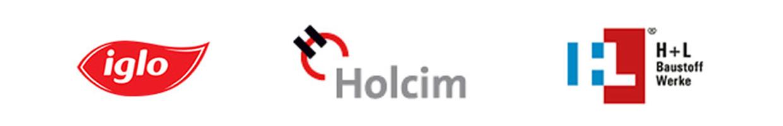 Referenzen für die SHG AUTOMATION GmbH iglo, Holcim, H+L Baustoff Werke